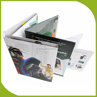 300gsm cardboard CD DVD digipak with 4 / 6 / 8 panel