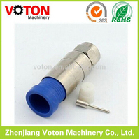Radio frequency electric Male F Plug Crimp RG11 cable f type connector