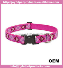 OEM silk printing pet dog collar and leash nylon webbing with ribbon