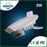LED Panel Downlight 3w Ultra Thin LED Downlight Round AC85-265V CE ROHS Include Drivers Cool White or Warm White