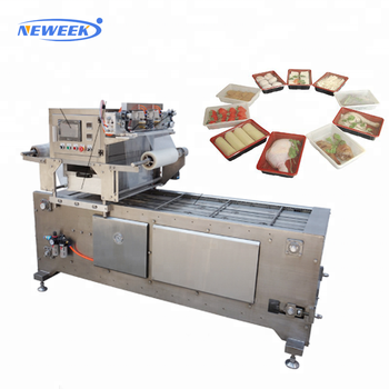 NEWEEK production line meal box fruit vacuum plastic bowl sealing machine