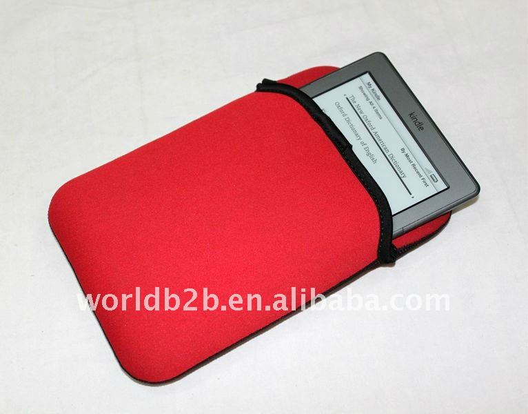 Red Soft Sleeve Case Cover Pouch Carrying Bag for Amazon Kindle 4 and Kindle Touch E-Reader
