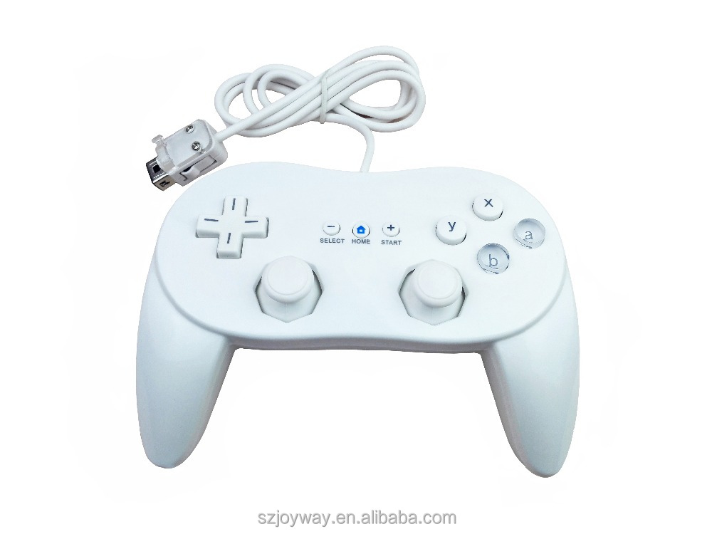 for Nintendo Wii pro Wired Game Controller Gamepad Joystick Controller white