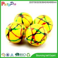 promotional toy 2015 eco-friendly products 42 45 49 60mm diameter rubber ball with flashing light ball toy
