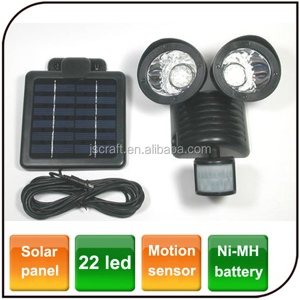 Motion Sensor Security garden Spot light 22 LED Dual Outdoor led solar flood light