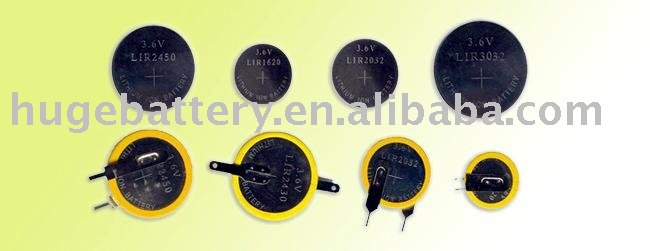 LIR3048 3.7v li-ion or lithium button cell