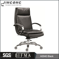 Height Adjustable Swivel Office Chair With Stainless Steel Armrest