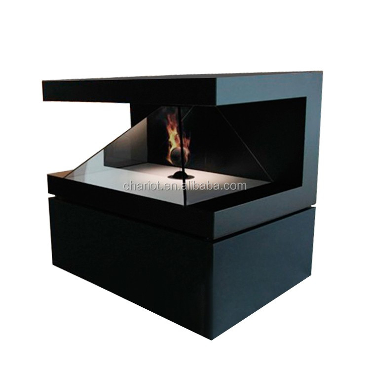 3D hologram fan display with black shell design