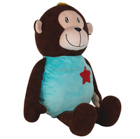 custom stuffed plush monkey toys hot water bag