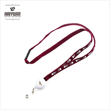 Polyester retractable badge lanyard with custom logo