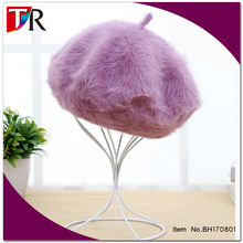 15 colors available fashion lady winter rabbit fur berets