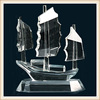 Clear crystal ship model for souvenir or home decoration