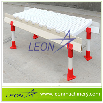 LEON series plastic floor for chicken farm with adjust legs