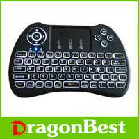 2017 Beautiful design H9 backlit air mouse 2.4G Wireless infrared remote control manufactured in China