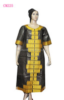 African bazin ware for woman,linen embroidery dress