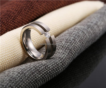 Hot sale pure stainless steel ring design jewellery made with CZ