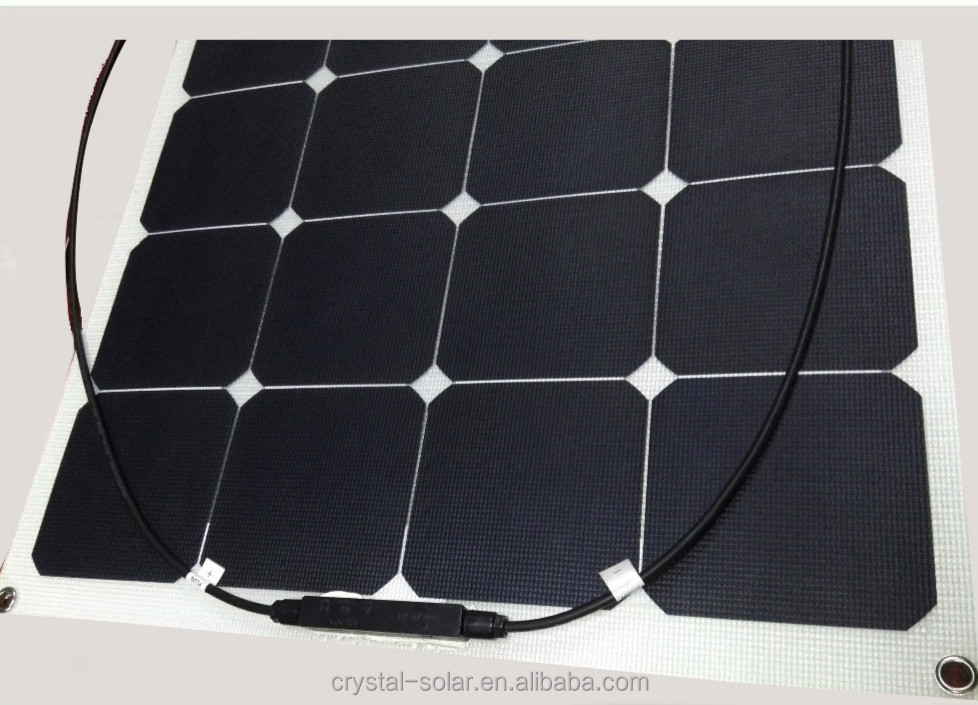 Highest efficiency Sunpower Solar Panel 100W 120W 130W 140W 150W 180W Semi Flexible Solar Panel