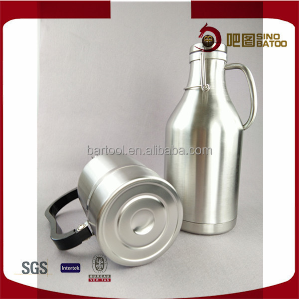 SS keg growlers 1 gallon with tapping system