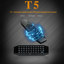 T5 2.4G air fly mouse tv remote control T5-M with IR learning,microphone function
