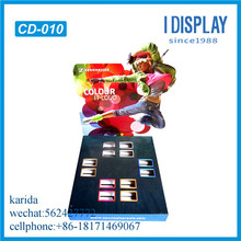 colorful cosmetic product display showcase counter display stands