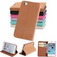 PU Leather Full Body Case with Stand and Card Slot for iPhone 5/5S