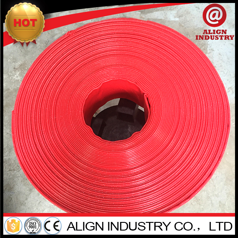 PVClay flat agriculture water hoses pvc lay flat hose export to nigeria
