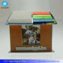 New Colorful Promotion Memo Pad Office Writing Pad PET Combined Sticky Memo Pad In House Shape Holder