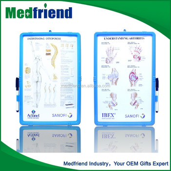 Medical Chart Board with Wipe off Easel for Promotion