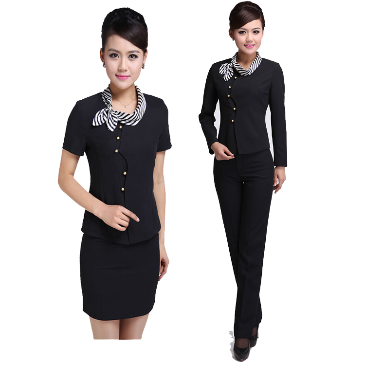 Juqian custom classic winter restaurant hotel manager uniform for front office desk