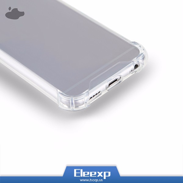 Custom design LOGO print Wholesale TPU Transparent Clear Blank Cell Phone Case For iPhone 6 6s & Plus