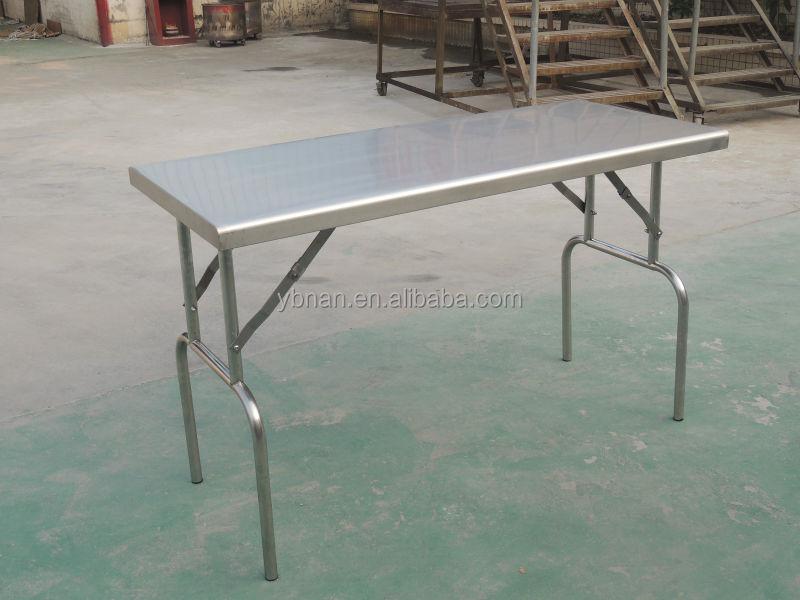 Acier inoxydable pliage en plein air table pliante loisirs - Table en acier inoxydable ...