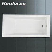 Bathtub White Freestanding Solid Surface Whirlpool