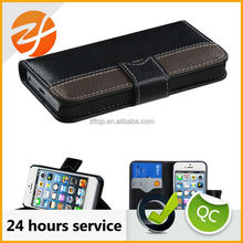 Best selling mobile phone accessories hybrid leather case for iphone 5 with card slot