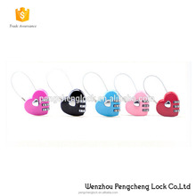 Factory wholesale digital love heart shaped combination pad lock