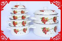 Wholesale good price carbon steel enamel cookware set & enamel kitchen utensils