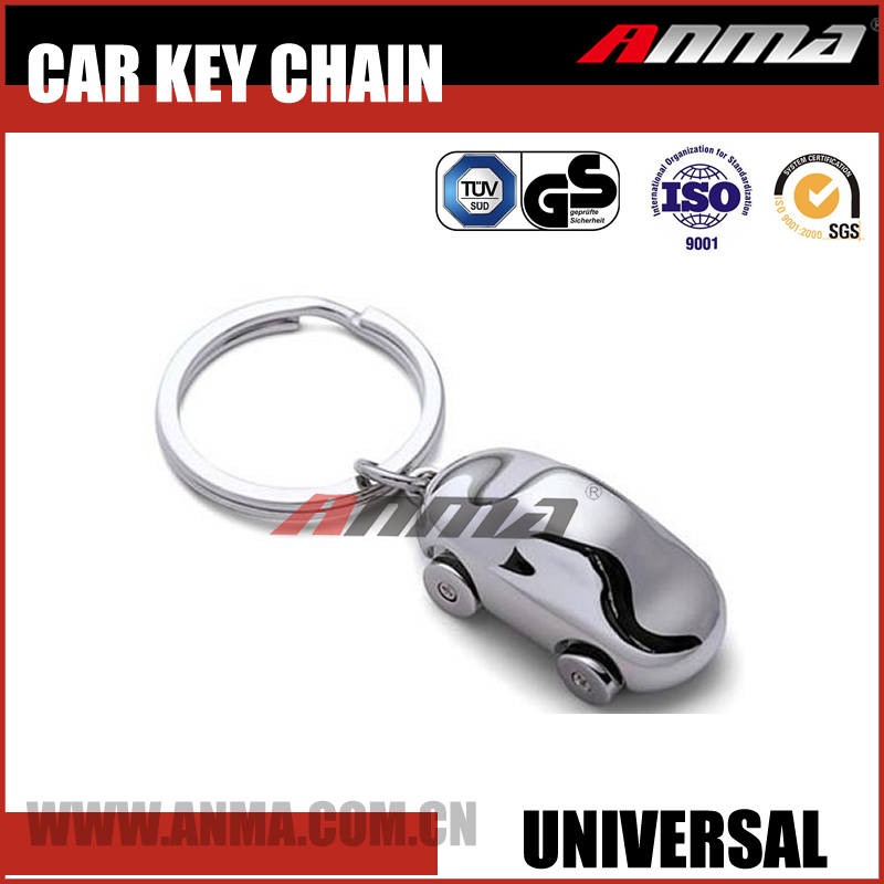 Retractable decorative universal custom floating metal car Logo key Chain / ring