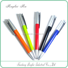 2017 high quality colorful plastic new promotional pens with large clip