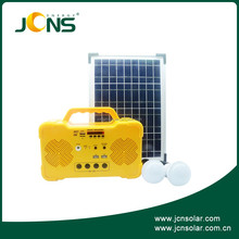 wholesale 10W high efficiency home solar power generator, portable solar system home kit price with USB for phone, load radio