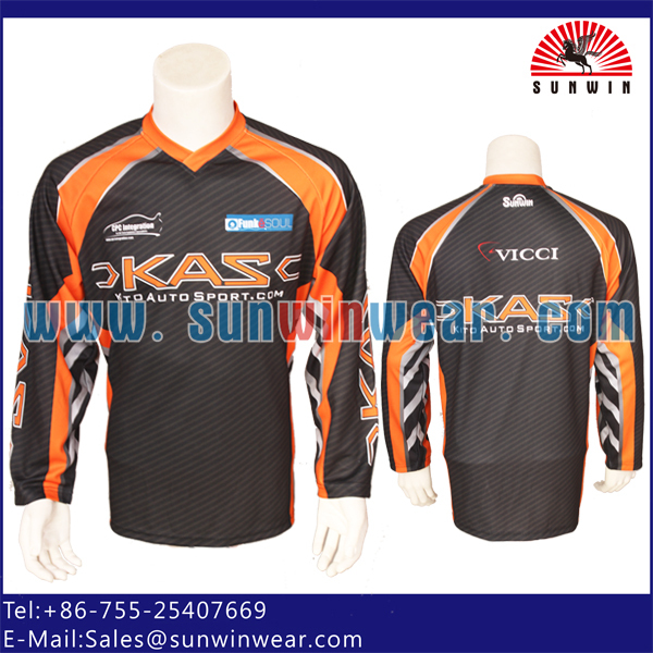 BMX motor cycling jersey promotional sublimated motocross wear for men