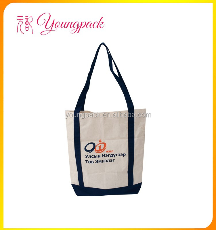 2016 Factory OEM Tote Cotton Canvas Shopping Bags