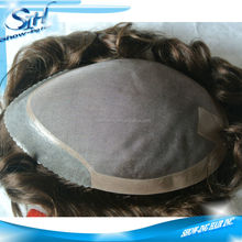 Durable mono pu men human hair toupee