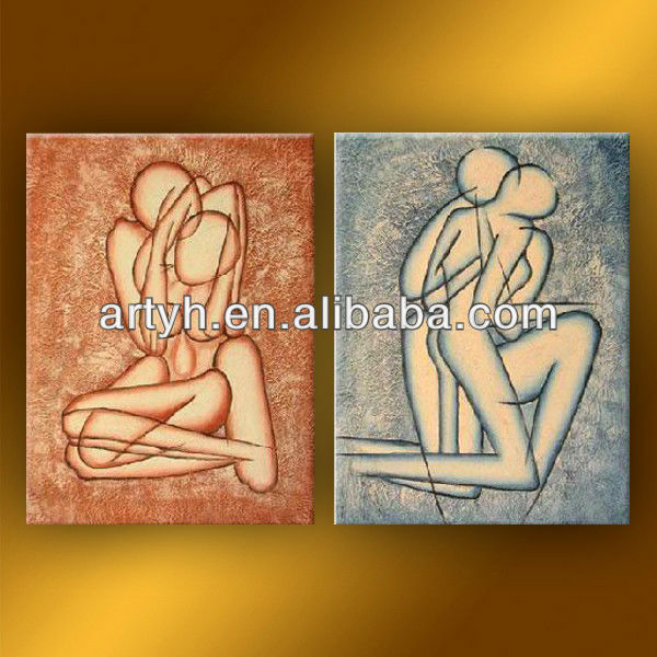 high quality best price linen painting on canvas