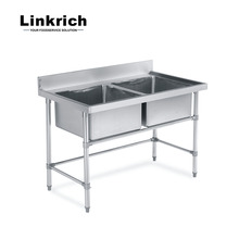 Simple Design Used Restaurant Industrial Deep Stainless Steel Kitchen Sink