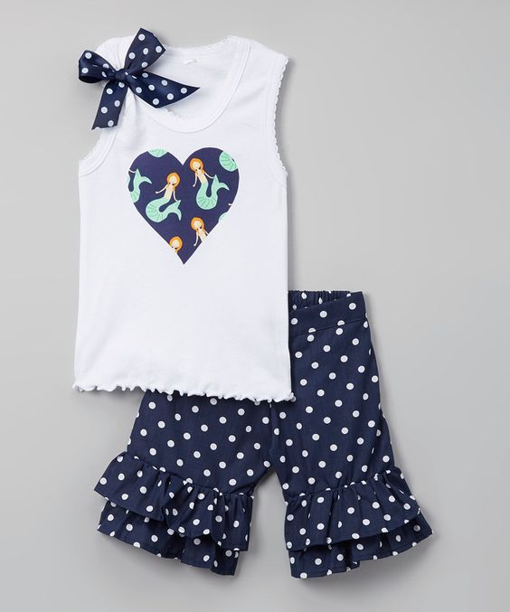Wholesale Kids Independence Day Outfits Baby girls 4th of July tank top ruffle shorts wear set Boutique Clothes Set