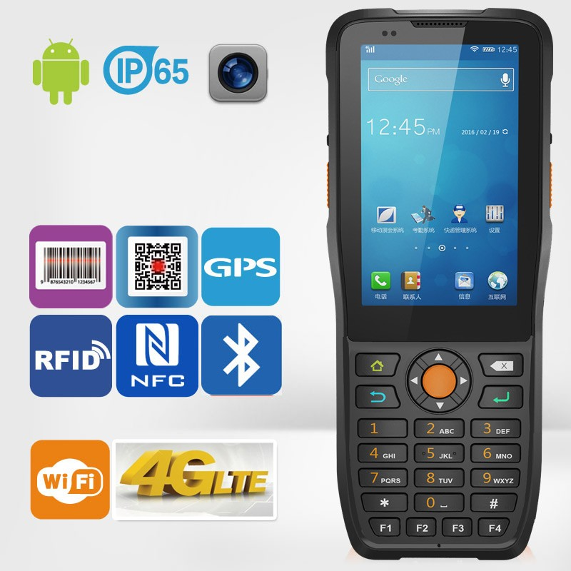 Jepower HT380K Android PDA with 1D 2D Barcode Scanner/WiFi/3G/GPS/RFID