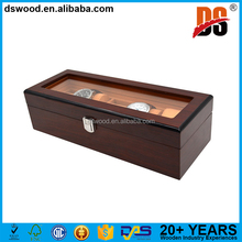 DSWOOD Luxury 5 Slots Wooden Mens Watch Display Case