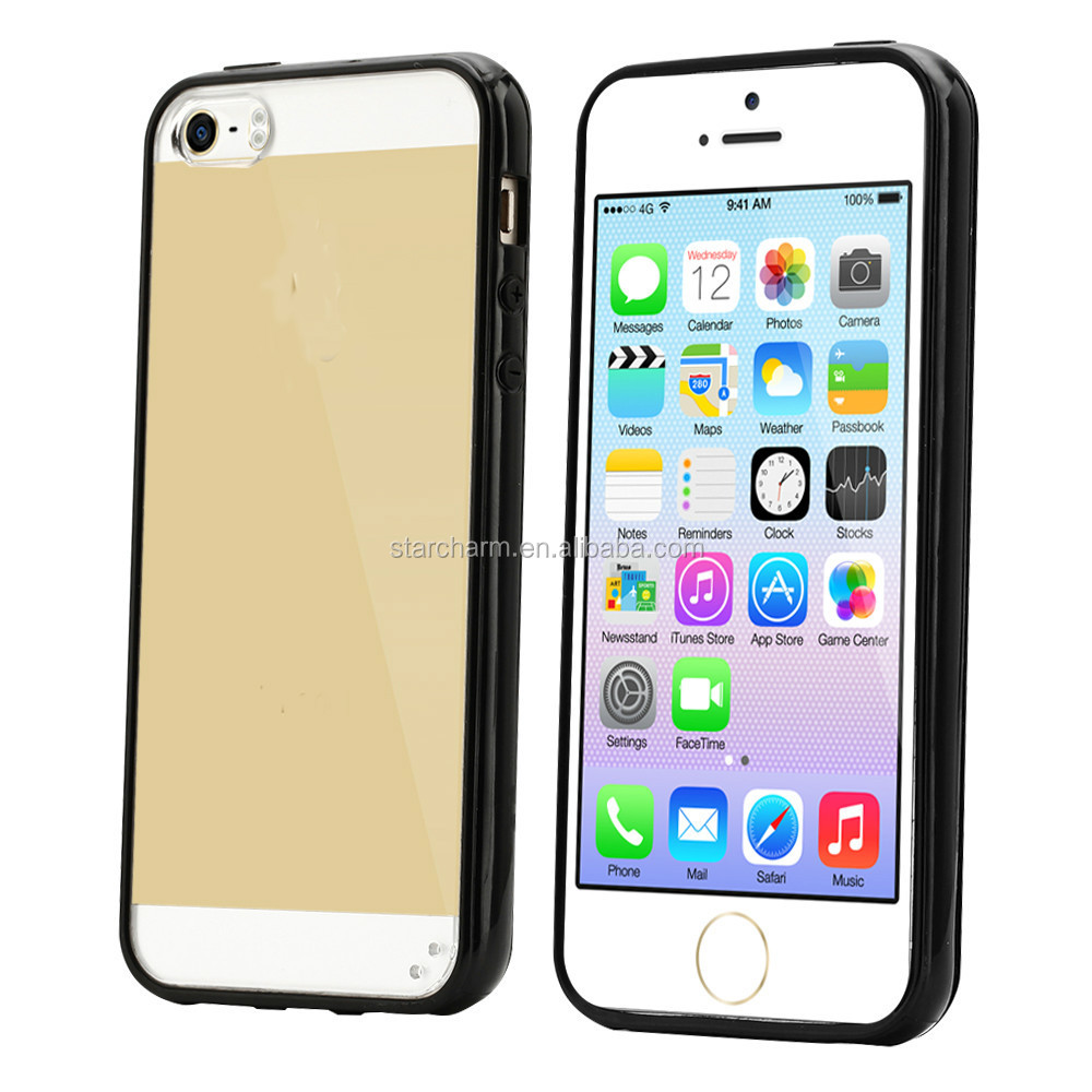 Popular tpu bumper pc phone case for iphone5s