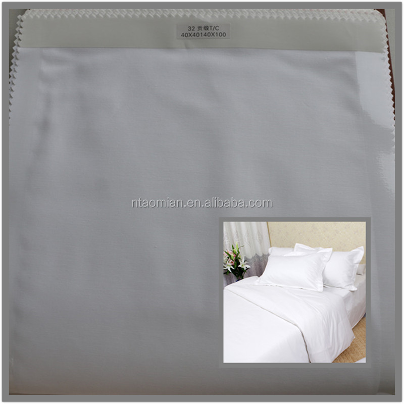 hotel bedding sheet sets use white 50 cotton 50 polyester fabric