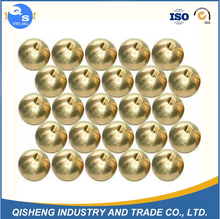Customized High Polished Hollow 25mm 30mm 42mm 50mm 63mm Brass Steel Half Ball With Drilled Hole