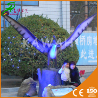 Outdoor exhibition pterosaur model life-size animatronic dinosaur